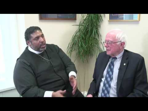 Bernie Sanders Talks to Rev William Barber