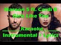 Girls Like You (Karaoke/Instrumental with Lyrics) Maroon 5 ft. Cardi B