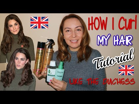 I TRY DUCHESS Of CAMBRIDGE HAIR STYLE PRODUCTS To CURL MY HAIR//KERASTASE-L'OREAL-KLORANE  TUTORIAL