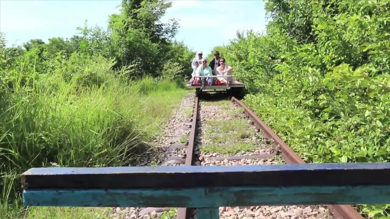 Bamboo Train of Battambang, Cambodia