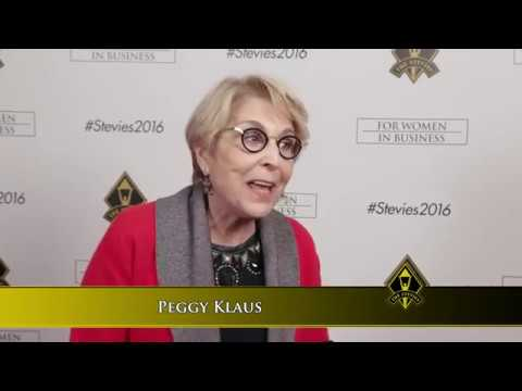 Peggy Klaus wins in the 2016 Stevie® Awards for Women in Business