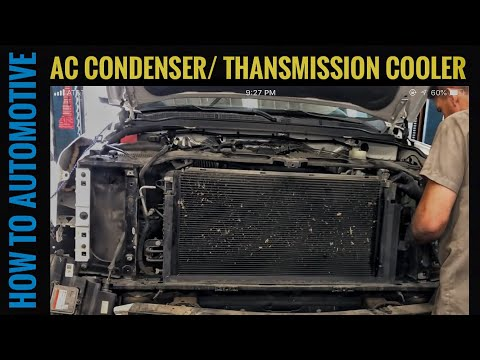 How to Replace the AC Condenser / Transmission Cooler on a 2014-2018 GMC Denali
