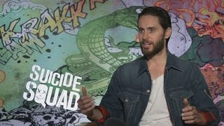 jared leto speaks as the joker the bat is a sweet guy i like the bat i think he is a lot of fun