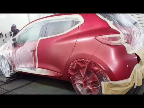 Renault clio  rouge flamme (tinted clear)