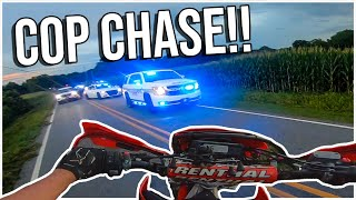 POLICE CHASE ENDS AT MY HOUSE! *INSANE*