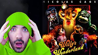 REACCIONO a la PELÍCULA de FNAF de NICOLAS CAGE en ESPAÑOL | Willy's Wonderland - Official Trailer