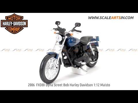 2006 FXDBI Dyna Street Bob Harley Davidson 1:12 by Maisto