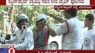 Traffic Police Issues Free Helmets to Create Awareness Among Public