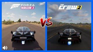 The Crew 2 Vs Forza Horizon 3 Lamborghini Veneno Sound Comparison