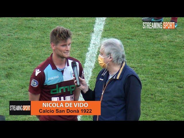 Intervista a  Nicola De Vido del San Donà Calcio domenica 2 maggio 2021