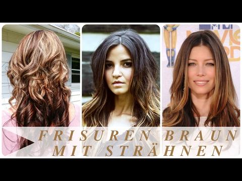Frisuren Braun Mit Strahnen Youtube