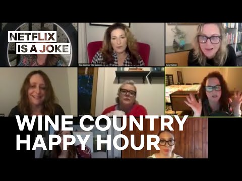 Amy Poehler Hosts Happy Hour with the Cast of Wine Country