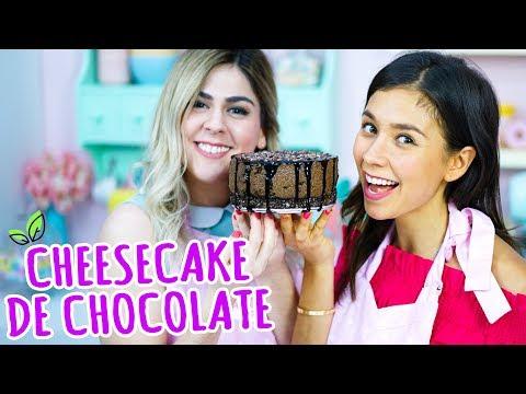 CHEESECAKE DE CHOCOLATE VEGANO CON MIS PASTELITOS! 🍫 Rawvana