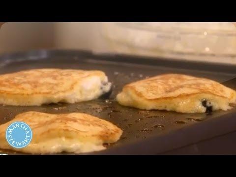 Blueberry and Banana Walnut Pancakes - Martha Stewart