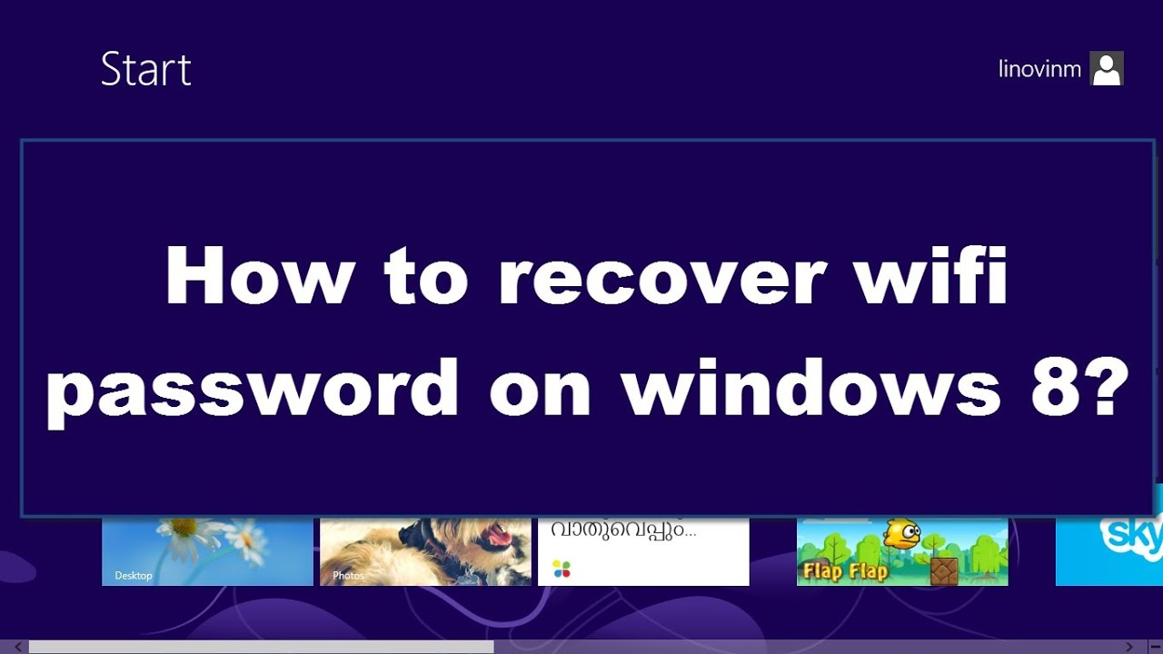 How to recover wifi password on windows 8 || How to find wifi password on  windows 8