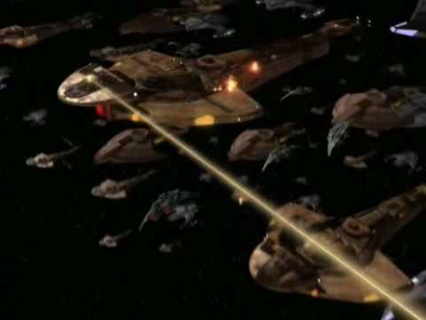 Star Trek: DS9 - massive starship battle!