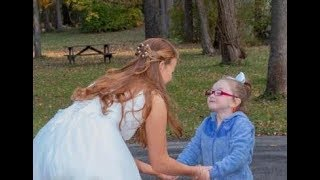 Autistic Girl Believes Bride is Cinderella & the Moment is Priceless