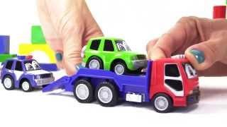 Мультфильм про игрушечные машины: эвакуатор везет машинку в шиномонтаж(Сегодня полицейская машинка проведет экскурсию по городу. И вместе с эвакуатором помогут Максу, который..., 2014-10-13T01:13:40.000Z)