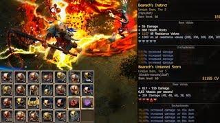 New Weapon & Belt | Bearach Infernal 2 Full Set T5 | 300 Piñatas | Stats & more! ☆ Drakensang Online