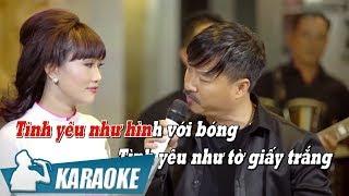 [KARAOKE] Thiệp Hồng Anh Viết Tên Em - Quang Lập & Lâm Minh Thảo