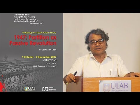 Workshop on South Asian History - Salimullah Khan - Session 1