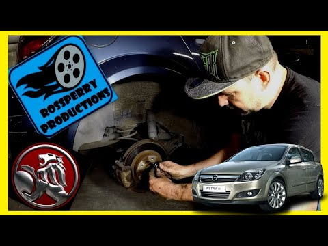 Holden Astra H How To Replace Rear Brake Pad & Disc Rotors Replacement Tutorial DIY Opel Vauxhall