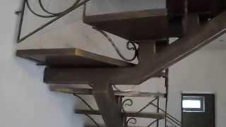 кованые работы Батайского кузнеца(кованые перила на металлической лестнице и керамические ступени,, 2014-03-17T16:14:43.000Z)