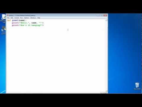 Learn2Python: Lecture 1 - Printing and Functioning