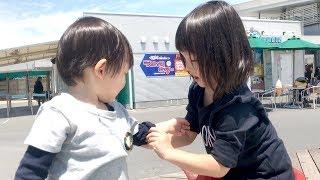めずらしい!?水遊び中にナナタンがやさしいお姉ちゃんに♡♡【ココロマン普段の様子】 thumbnail
