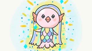 疫病退散!アマビエ様〜Amabie - legendary Japanese spirit〜簡単かわいいイラストレッスン54