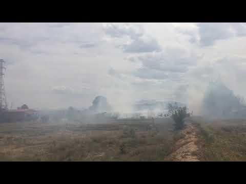 Aparatoso incendio en Tudela