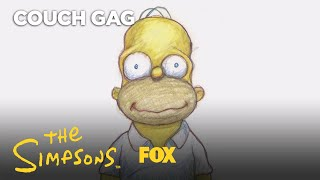 Plympton Homer's Face Couch Gag | Season 29 Ep. 13 | THE SIMPSONS