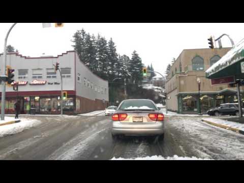 Driving in snow, in Prince Rupert, in 4K. December 4th 2016