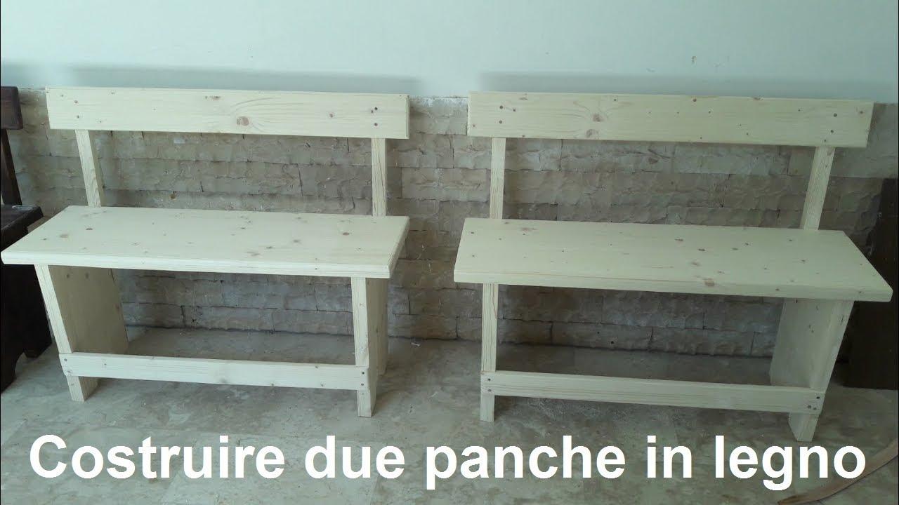 Panche Di Legno Fai Da Te.Costruire Due Comode Panche In Legno Da Due Posti Con Pochi