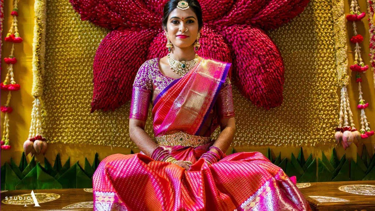 Gorgeous South Indian Bridal Saree Designs For 2018 Youtube