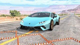 Massive Spike Strip Pileup Crashes #26 – BeamNG Drive   CrashBoomPunk