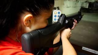 Vzduchovky na Projekční laserové střelnici