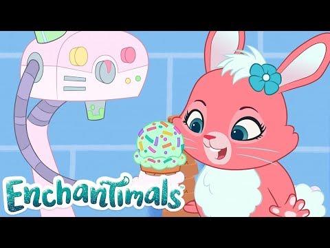 Enchantimals Po Polsku 💜 Wspaniały maszyna do lodów! 🍦 Kreskówki dla dzieci 💜 Zabawne filmy