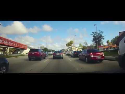 Driving around Miami, Florida