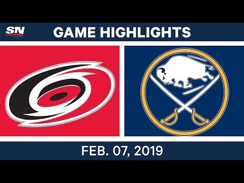 NHL Highlights | Hurricanes vs. Sabres - Feb. 7, 2019