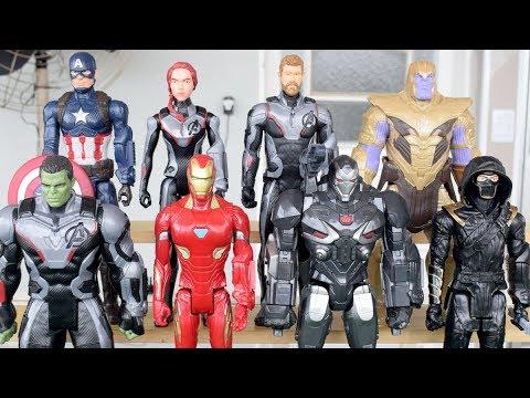 8 Bonecos Vingadores Ultimato 4 Titan Hero : Hulk, Thanos