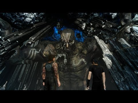 Final Fantasy XV PC - Titan Boss Fight (4K 60fps)