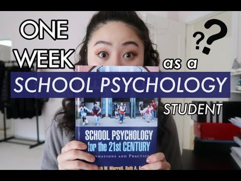 A Week In The Life Of A School Psychology Student