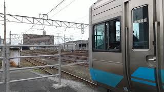 JR四国 松山駅 2105出場回送 発車