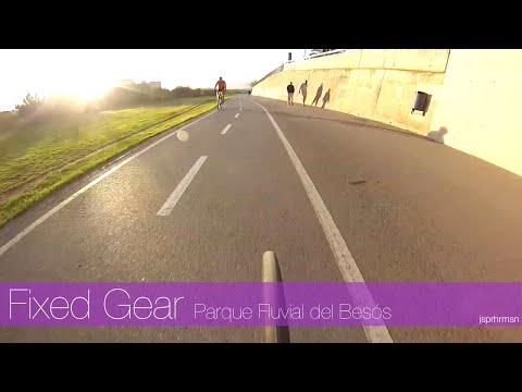 Bianchi Pista Steel Fixed Gear Track Bike ride through Barcelona : Parque Fluvial del Besós