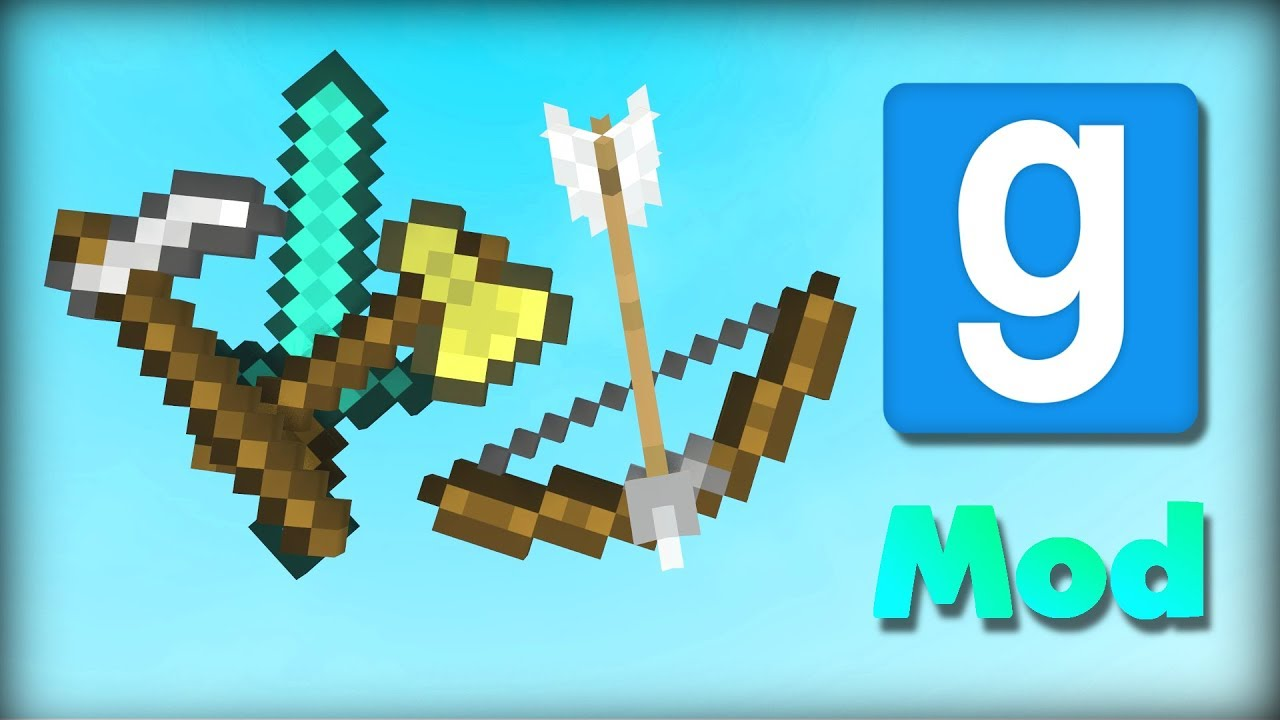 Garry's Mod | WORKING MINECRAFT WEAPONS & TOOLS | Mod Showcase