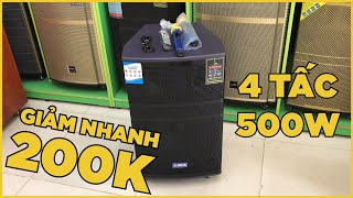 GIẢM NHANH 200k cho loa kéo Alokio R95 bass 4 tấc hát karaoke cực chất - hàng mới 100%
