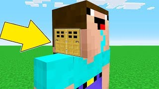 Minecraft Battle - NOOB vs PRO : NOOB BUILT HEAD BLOCK HOUSE INSIDE NOOB ! (Animation)