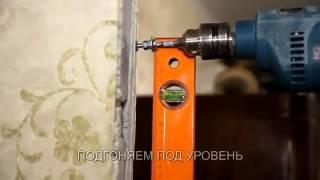 видео Смотрите наши работы: установка дверей с коваными элементами и стеклом