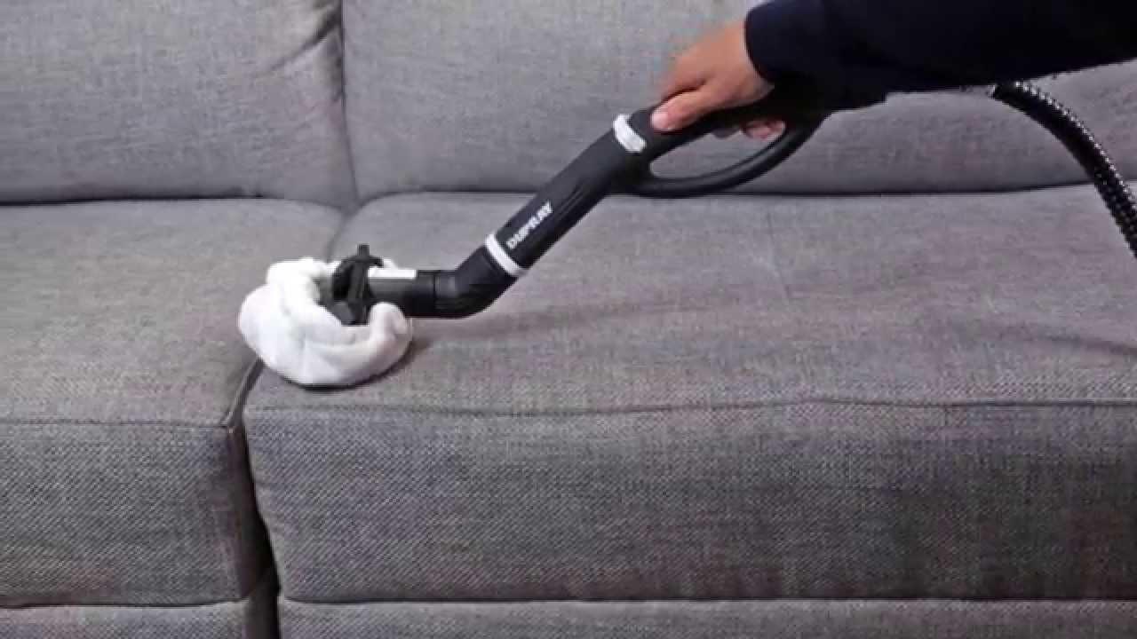c mo limpiar un sill n de tela con un limpiador de vapor youtube. Black Bedroom Furniture Sets. Home Design Ideas